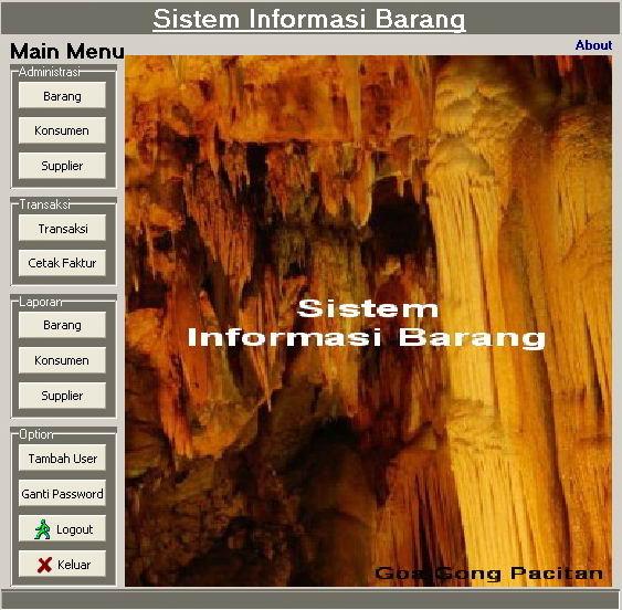 Sistem Informasi Barang - by captbbx